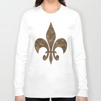 renaissance Long Sleeve T-shirts featuring Renaissance Brown by Charma Rose