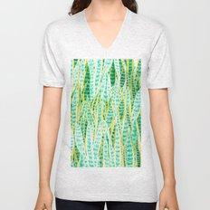 green snake plant pattern Unisex V-Neck