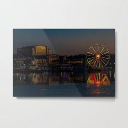 National Harbor Ferris Wheel Metal Print