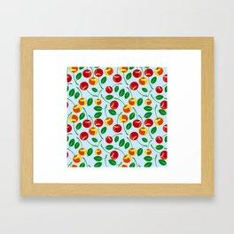 Pattern with sweet cherries Framed Art Print