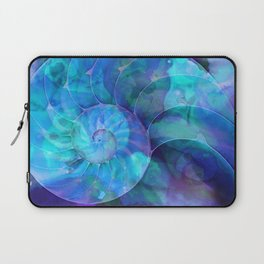 Blue Nautilus Shell  - Seashell Art By Sharon Cummings Laptop Sleeve