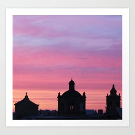 Cotton Candy Skies & Church Steeples Art Print