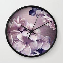 Imperfect Plumeria Wall Clock