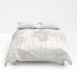 Cream Map Comforters