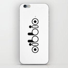 Oibbio Logo iPhone Skin