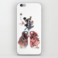 lungs iPhone & iPod Skins featuring Lungs by La Scarlatte