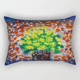 Yellow Flowers #54 Rectangular Pillow