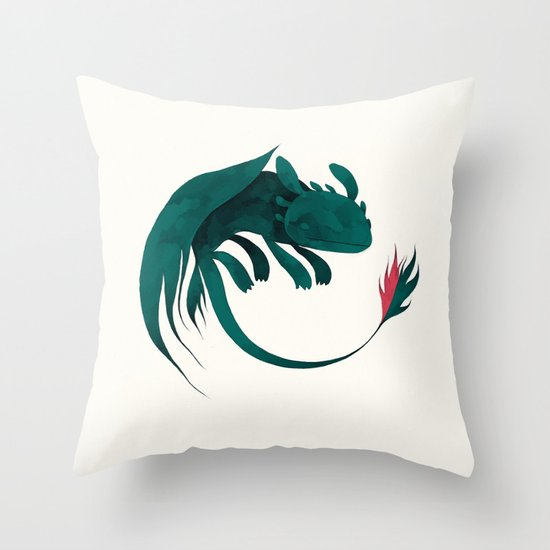 toothless Throw Pillow