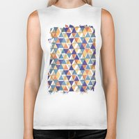 triangles Biker Tanks featuring TRIANGLES by Kiley Victoria