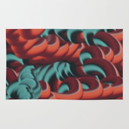 Graphic doodle Rug