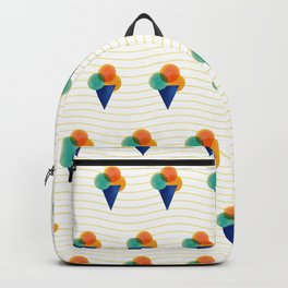 044 Ice cream pattern on the beach Backpack
