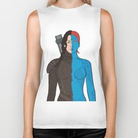 katniss Biker Tanks featuring Katniss-Mystique by richoz