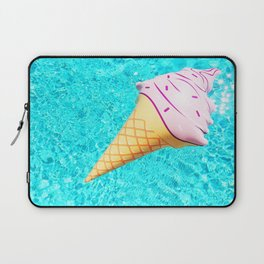pink ice cream cone float all up in my pool yo Laptop Sleeve