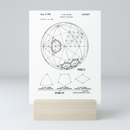 Buckminster Fuller 1961 Geodesic Structures Patent Mini Art Print