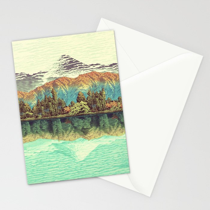 The Unknown Hills in Kamakura Stationery Cards