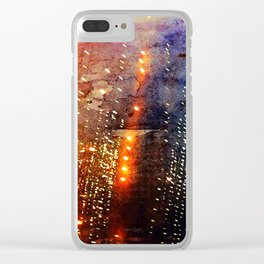 Fire Showers Clear iPhone Case