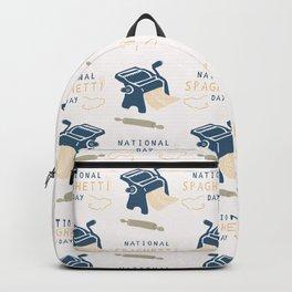 National Day of Spaghetti Pasta Press Machine Backpack