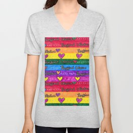 Boyfriend Collective- Rainbow Unisex V-Neck