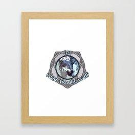 Icy Wild World Wolf Framed Art Print