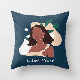 Latina Power Throw Pillow
