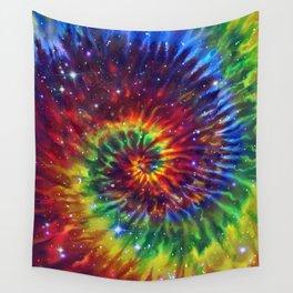 Celestial Rainbow Swirl Wall Tapestry