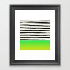Lightning x Stripes Framed Art Print