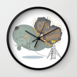 Oh, Hugh the Manatee! Wall Clock