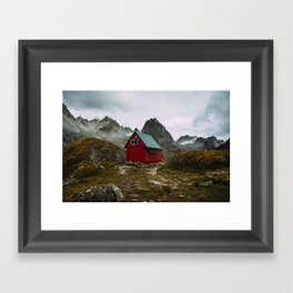 The Mint Hut in Hatcher Pass, Alaska Framed Art Print