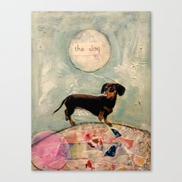 Hank the amazing Doxie Canvas Print