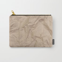Crumpled Kraft Carry-All Pouch