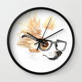 Chihuahua Hipster Wall Clock