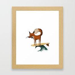 Surf Fox Framed Art Print