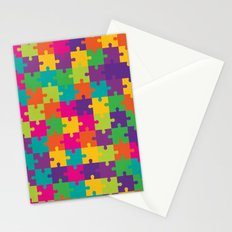 Colorful Jigsaw Puzzle Pattern Stationery Cards