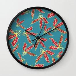 flor navidad roja Wall Clock