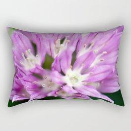 Macro Chive Blossom 4 Rectangular Pillow