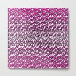 Rose Chrome Metal Print