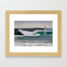 The Jetty Grind Framed Art Print