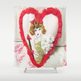 Cupid Girl Shower Curtain