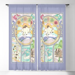 Team Avatar and Elements Blackout Curtain