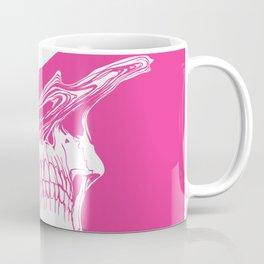 Liquify skull in hot pink Coffee Mug