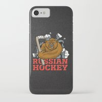 hockey iPhone & iPod Cases featuring HOCKEY by solomnikov