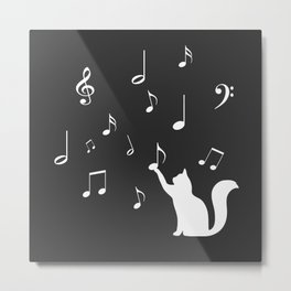 Cat music Metal Print