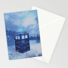 Tardis in Winterland Stationery Cards