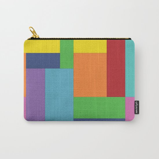 Multicolor square Carry-All Pouch
