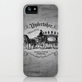 Vintage Style Undertaker iPhone Case