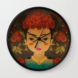 Mexican eyes Wall Clock