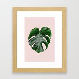 Pink Monstera Framed Art Print