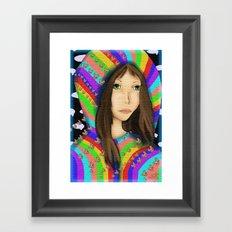 Anime Pop Rainbows Framed Art Print