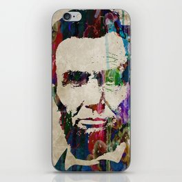 Abraham Lincoln Watercolor Modern Abstract GIANT PRINT ART iPhone Skin