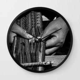 Weaver Hands Wall Clock
